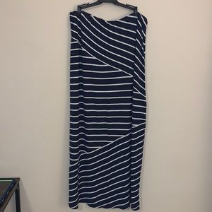 Ann Taylor LOFT blue stripe skirt